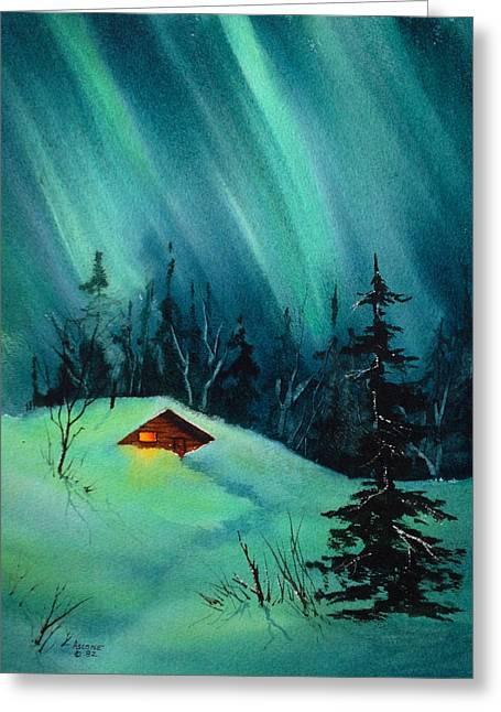 Sienna Greeting Cards - Cozy Cabin Greeting Card by Teresa Ascone