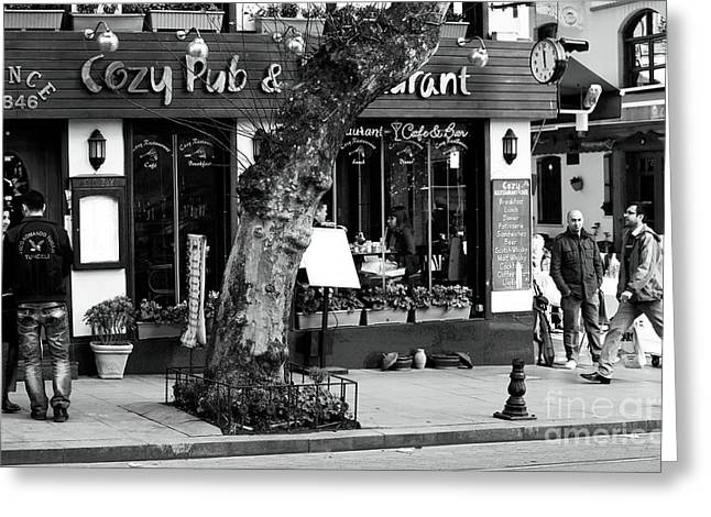 Sultanhmet Greeting Cards - Cozy Pub Greeting Card by John Rizzuto