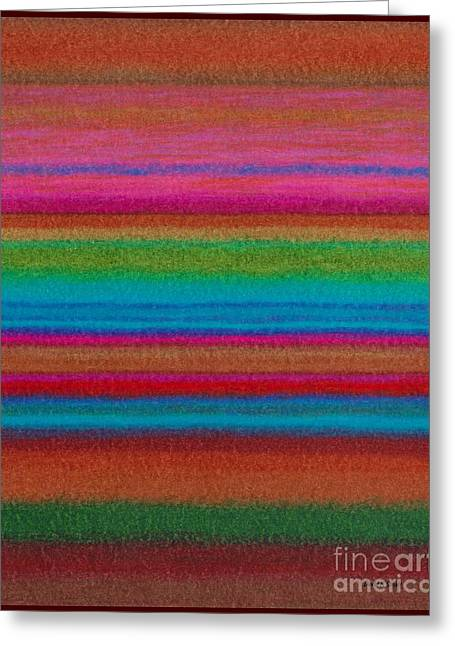 Colored Pencil Abstract Greeting Cards - CP014 Stripes Greeting Card by David K Small