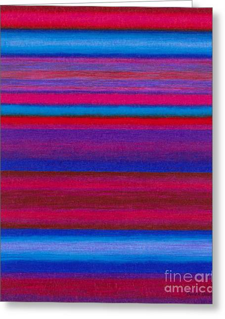 Colored Pencil Abstract Greeting Cards - Cp015 Greeting Card by David K Small