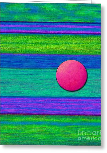Violet Blue Drawings Greeting Cards - Cp022 with Circle Greeting Card by David K Small