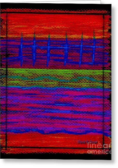 Colored Pencil Abstract Greeting Cards - Cp025 Greeting Card by David K Small