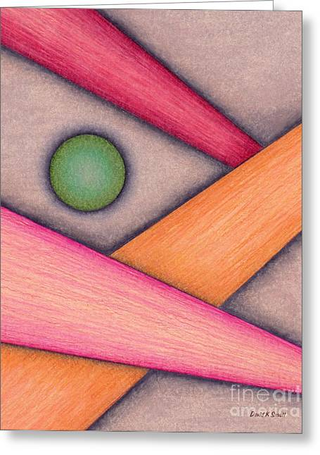 Colored Pencil Abstract Greeting Cards - Cp033 Greeting Card by David K Small