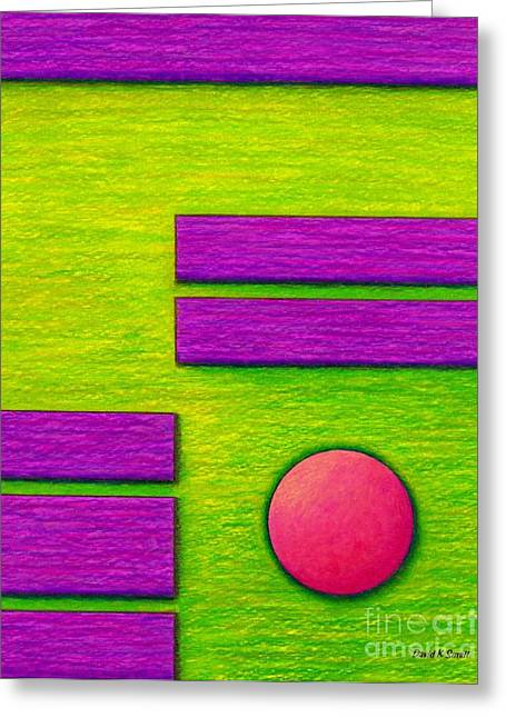 Colored Pencil Abstract Greeting Cards - Cp034 Greeting Card by David K Small