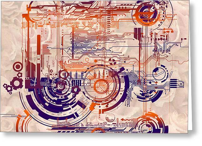 Processor Digital Greeting Cards - Cpu Ii Greeting Card by Diuno Ashlee