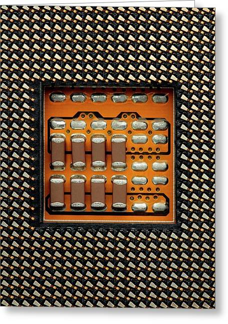 Cpu Socket Greeting Card by Antonio Romero