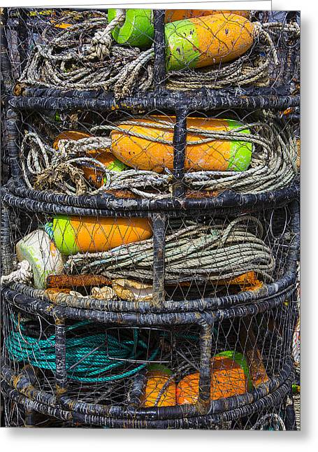 Crab Nets Greeting Cards - Crab cages Greeting Card by Garry Gay