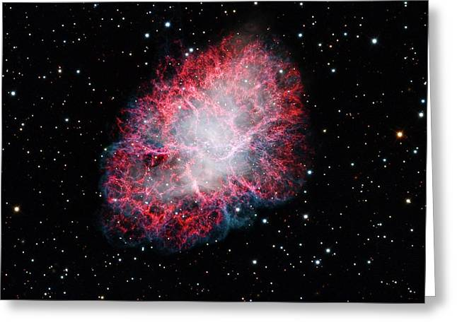 Crab Nebula Greeting Card by Adam Block/mount Lemmon Skycenter/university Of Arizona