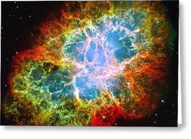 Crab Nebula Greeting Card by Don Hammond
