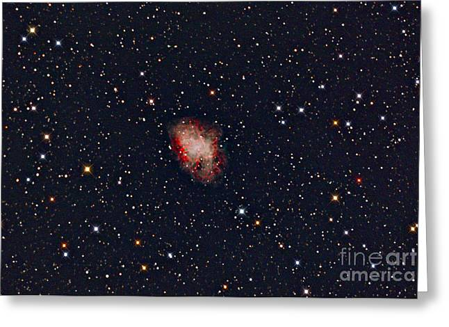 Pulsar Wind Nebula Greeting Cards - Crab Nebula Greeting Card by John Chumack
