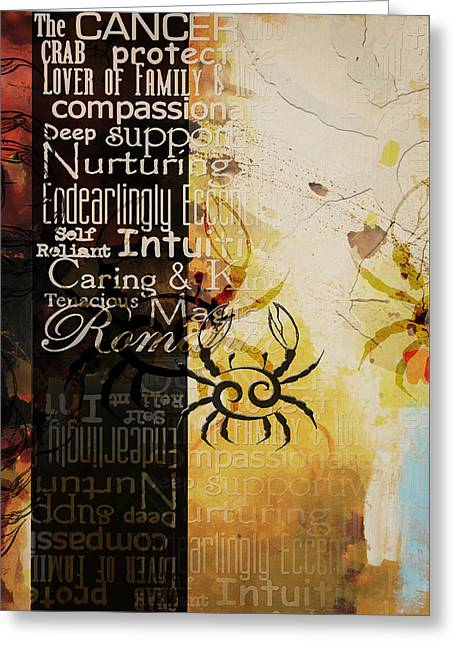 Cancer Paintings Greeting Cards - Crab of The Star Cancer Greeting Card by Corporate Art Task Force