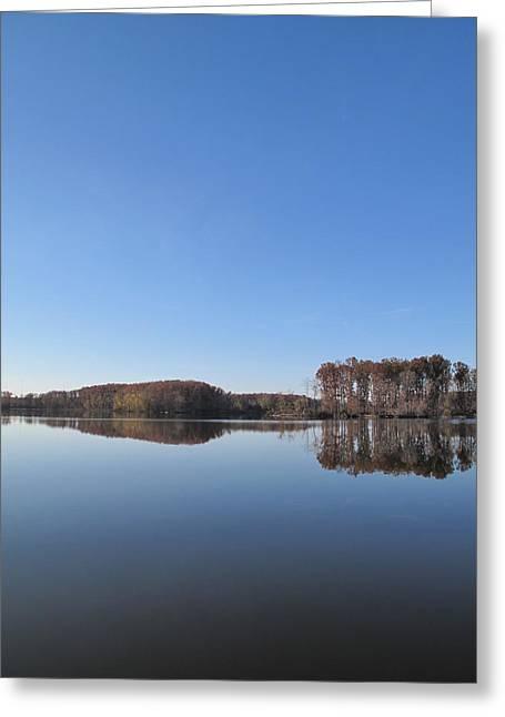 Crab Orchard Lake's Blue Mood Greeting Card by Frank Chipasula