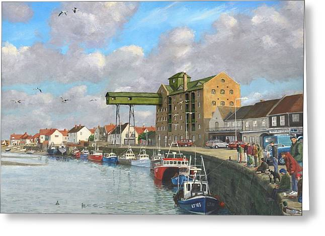 Crabbing - Wells-next-the-sea Norfolk Greeting Card by Richard Harpum