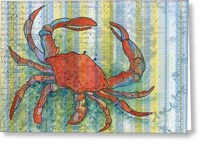 Crabby Crab Greeting Card by Priscilla  Jo