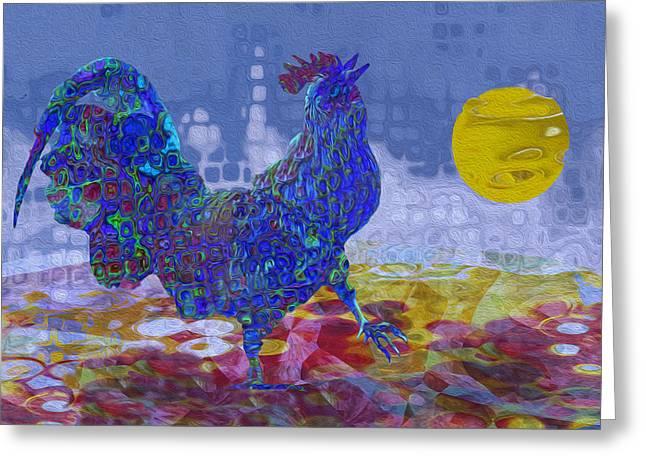 Violet Blue Digital Greeting Cards - Crack Of Dawn Greeting Card by Jack Zulli