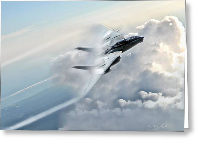 Storm Digital Art Greeting Cards - Crack The Sky Greeting Card by Peter Chilelli
