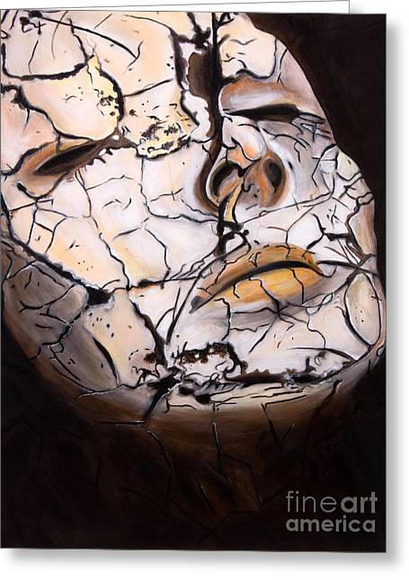 Gaia Greeting Cards - Cracked Greeting Card by Denise Deiloh