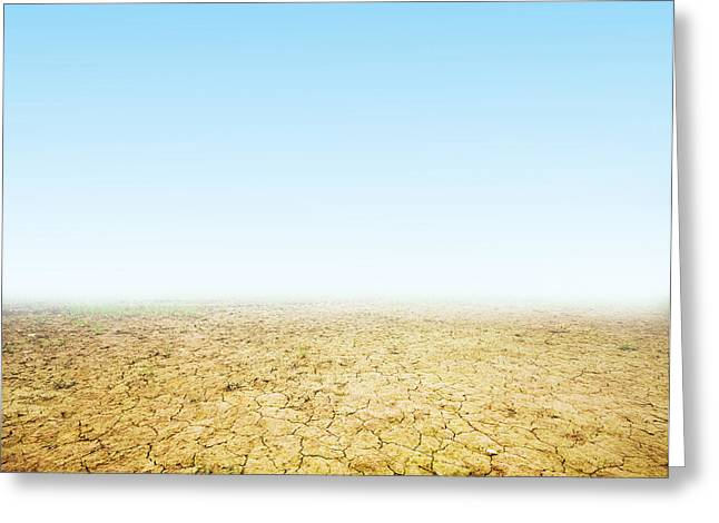 Drain Greeting Cards - Cracked ground background Greeting Card by Michal Bednarek