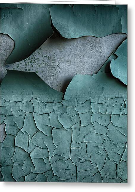 Atmospheric Greeting Cards - Cracked Peeling paintwork Greeting Card by Russ Dixon