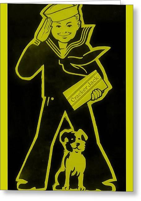 Crackerjack Greeting Cards - Crackerjack Gold Greeting Card by Rob Hans