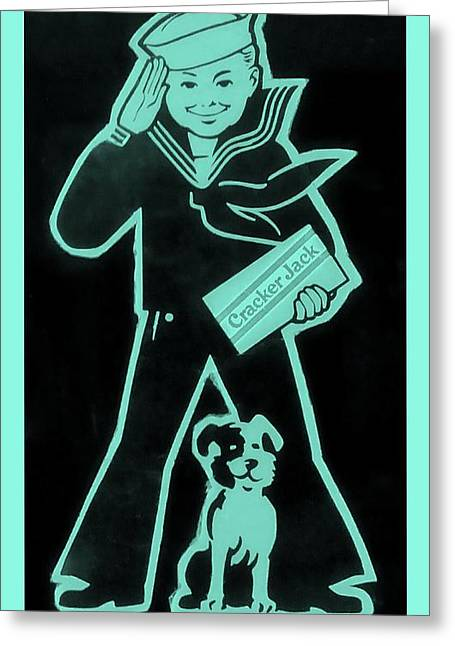 Crackerjack Greeting Cards - Crackerjack Greenishblue Greeting Card by Rob Hans