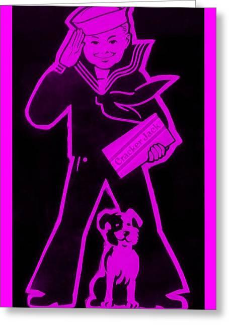 Crackerjack Greeting Cards - Crackerjack Purple Greeting Card by Rob Hans