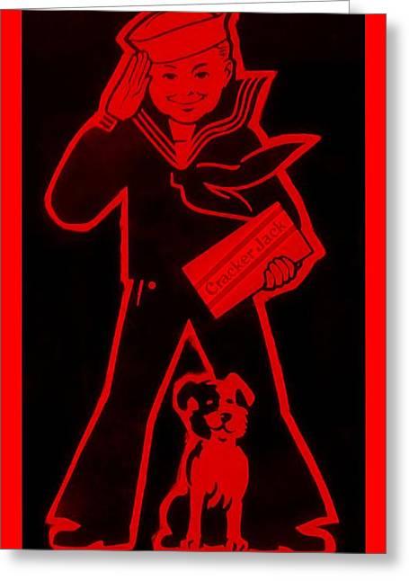 Crackerjack Greeting Cards - Crackerjack Red Greeting Card by Rob Hans