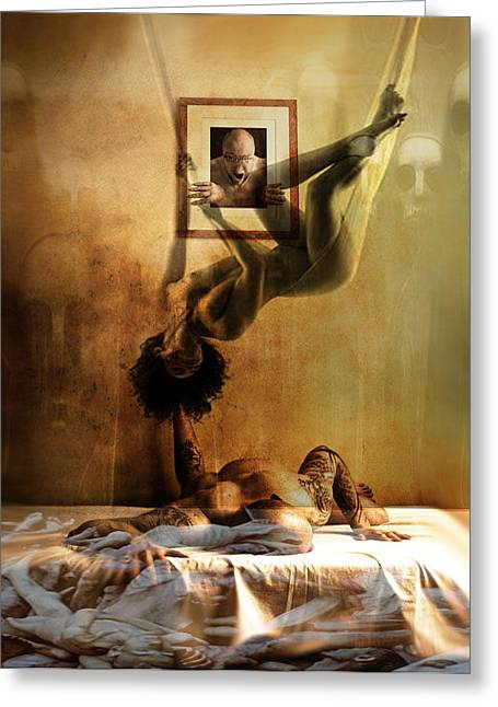 Artistic Nude Framed Prints Greeting Cards - Cradle of life  Greeting Card by Safir  Rifas