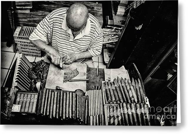Gameroom Greeting Cards - Crafting a Great Cigar Greeting Card by Rene Triay Photography