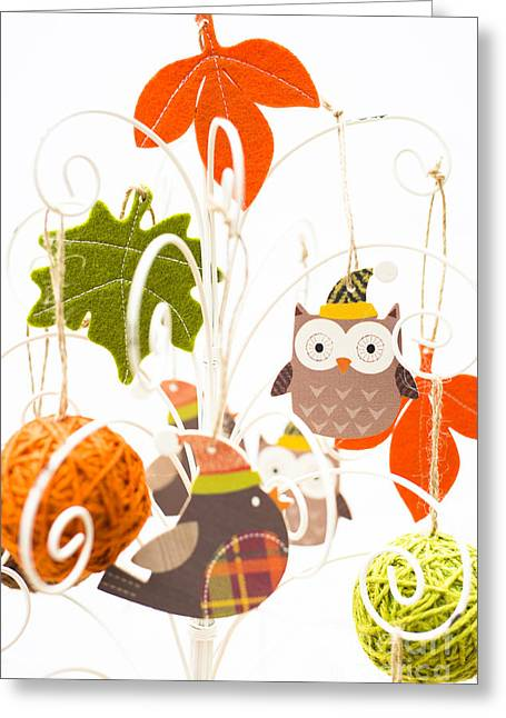 Festivities Greeting Cards - Crafty Christmas Greeting Card by Anne Gilbert
