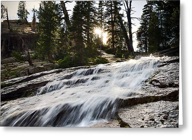 Frank Church River Of No Return Greeting Cards - Crag Waterfall Greeting Card by Lee Doyle