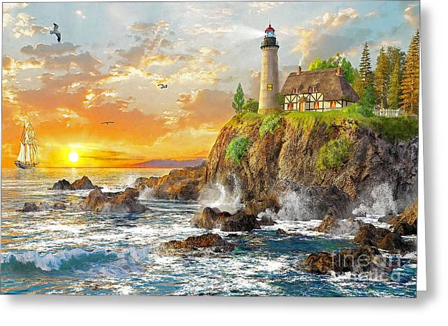 New England Ocean Digital Art Greeting Cards - Craggy Cove Greeting Card by Dominic Davison