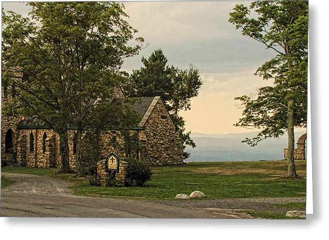 Pamela Phelps Greeting Cards - Cragsmoor Stone Church Greeting Card by Pamela Phelps
