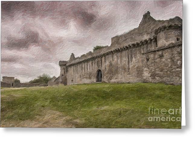 British Royalty Greeting Cards - Craigmillar Castle Impaso Painting Greeting Card by Antony McAulay