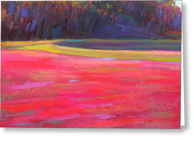 Cape Cod Pastels Greeting Cards - Cran Jam Greeting Card by Ed Chesnovitch