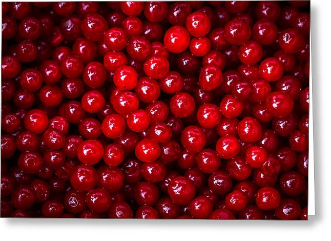 Harvest Deco Photographs Greeting Cards - Cranberries - 1 Greeting Card by Alexander Senin