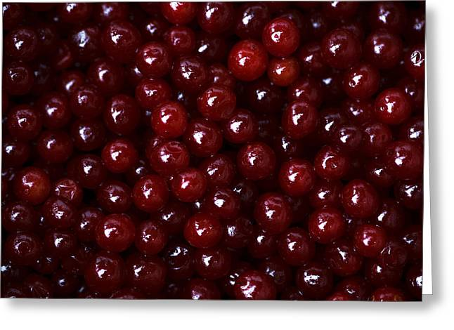 Harvest Deco Photographs Greeting Cards - Cranberries - 2 Greeting Card by Alexander Senin