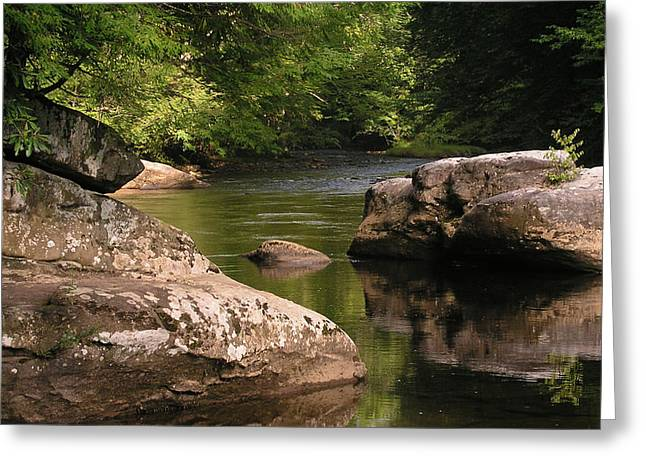 Virginia Pyrography Greeting Cards - Cranberry River rocks Greeting Card by Greg Wood