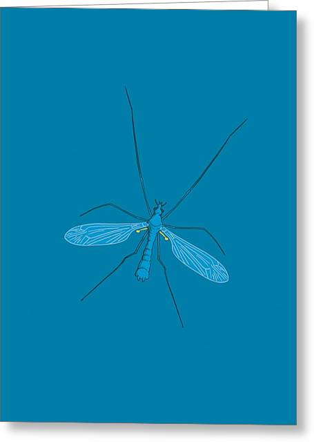 Legs Spread Greeting Cards - Crane fly, artwork Greeting Card by Science Photo Library