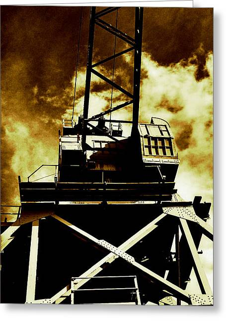 Nyc Greeting Cards - Crane Greeting Card by Paulo Guimaraes