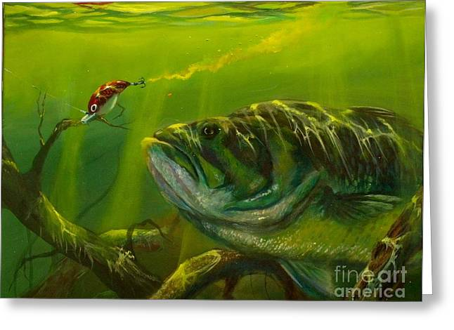 Fresh Water Fish Greeting Cards - Cranking  Greeting Card by Yusniel Santos