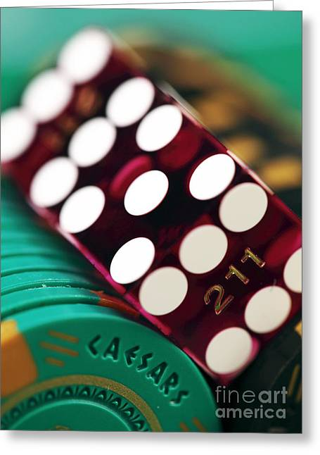 Photo Art Gallery Greeting Cards - Craps at Caesars Greeting Card by John Rizzuto
