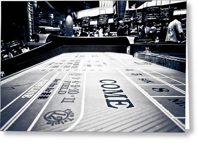 Win Greeting Cards - Craps Table in Las Vegas Greeting Card by Anthony Doudt