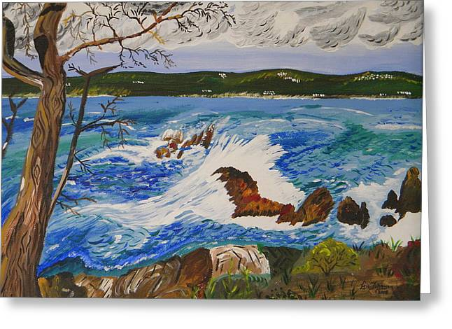 Whalers Cove Greeting Cards - Crashing Wave Greeting Card by Eric Johansen
