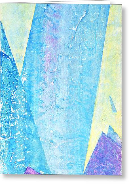 Sonoma County Mixed Media Greeting Cards - Crashing Waves and Rocks Greeting Card by Asha Carolyn Young
