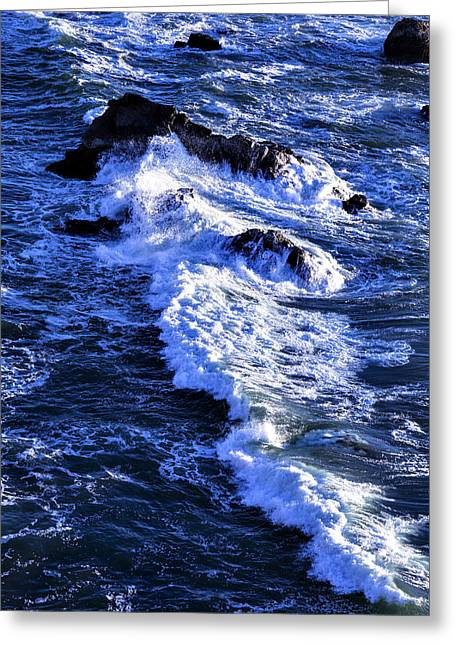 Crashed Greeting Cards - Crashing Waves Greeting Card by Garry Gay