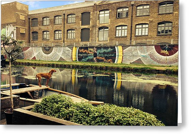 Hackney Greeting Cards - Crate Brewery Canal Side River Lea Greeting Card by David French