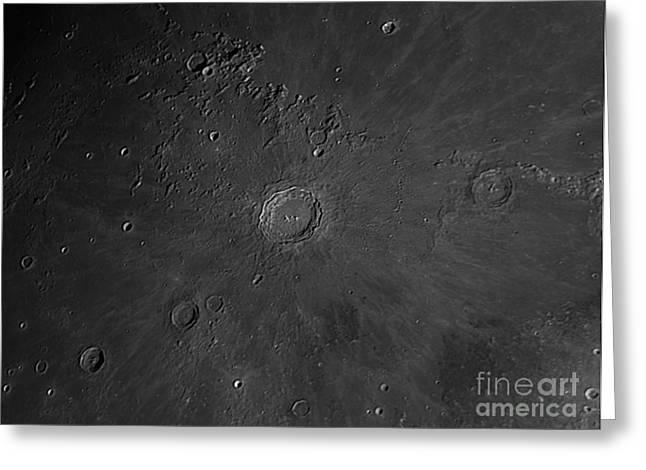 Oceanus Procellarum Greeting Cards - Crater Copernicus Region Greeting Card by John Chumack