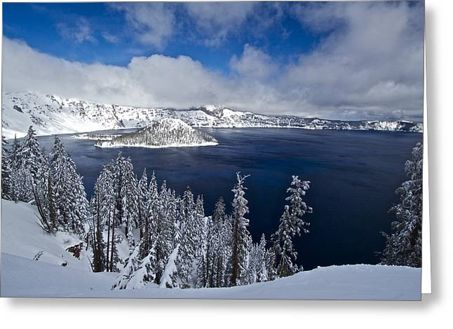 Craters Greeting Cards - Crater Lake 040913A Greeting Card by Todd Kreuter