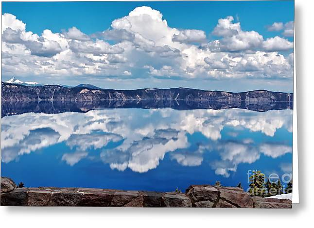 Geology Photographs Greeting Cards - Crater Lake 18 Greeting Card by   FLJohnson Photography